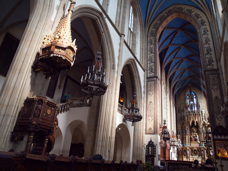 Interior of Dominican Church of Holy Trinity in Krakow (Poland)