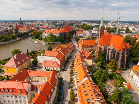 Aerial view of Wroclaw from tower of Cathedral of St. John the Baptist, Poland photo