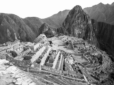 Machu Picchu in black and white, Peru photo