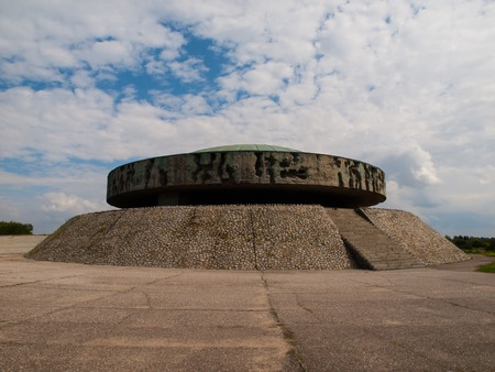 concentration camp: Mausoleum in Majdanek concentration camp, Lublin, Poland