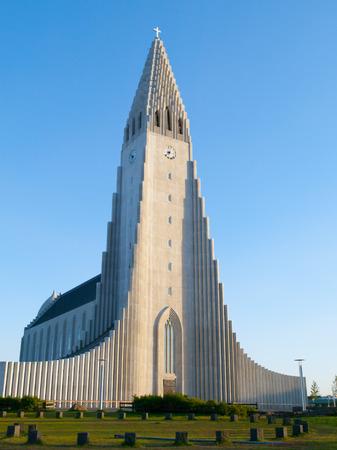 lutheran: Hallgrimskirkja, White Lutheran Cathedral in Reykjavik, Iceland