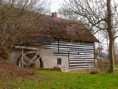 watermill: Old rural watermill with ancient water wheel
