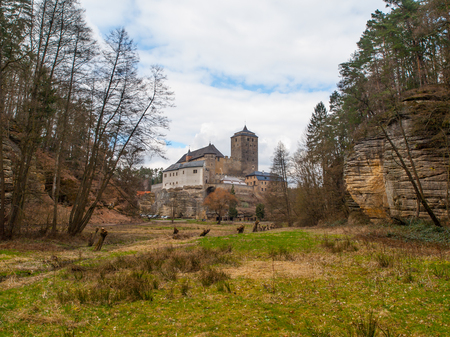 stoney: Medieval Castle Kost with big stone tower, Czech Republic Editorial