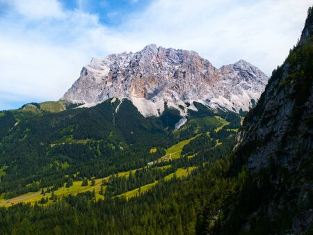 zugspitze mountain: South face of the highest mountain in Germany, Zugspitze