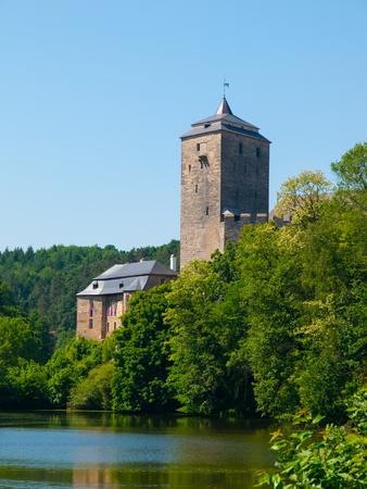 gothic castle: Castillo g�tico Checa Kost en Para�so Checo, Rep�blica Checa Editorial