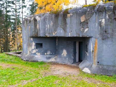 Czech concrete army bunker in northern Bohemia Editorial
