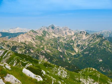 julian: Limestone peaks of Julian Alps in Slovenia