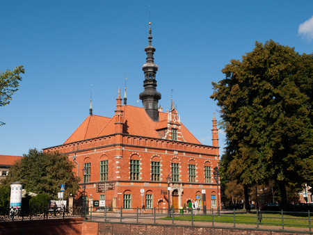 old town hall: Renaissance building of Old Town Hall in Gdansk, Poland