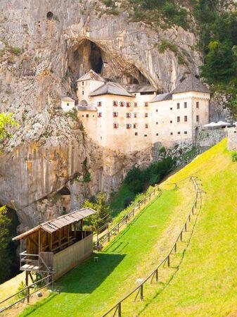 built in: Predjama Castle built in the cave, Slovenia Stock Photo