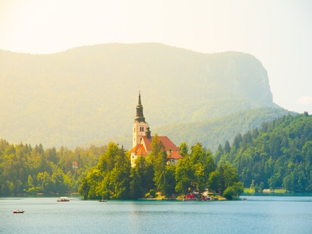bled: Bled Lake with island and church, Slovenia
