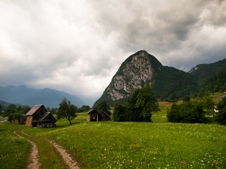 bohinj: Limestone hill Studor near Bohinj Lake, Slovenia