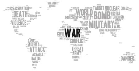 cruelty: War word cloud