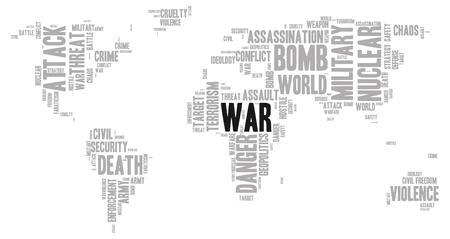 geopolitics: War word cloud