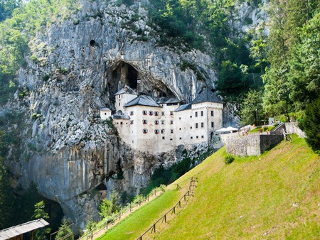 Predjama Castle built in the cave, Slovenia 写真素材
