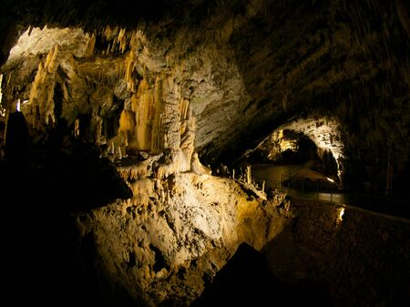 underworld: Picturesque karst features illuminated in the cave