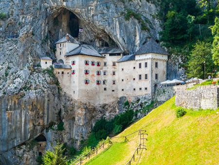Predjama Castle built in the cave, Slovenia Foto de archivo
