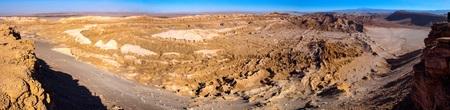 san pedro: Panorama view of rocky landscape of Death Valley, San Pedro de Atacama, Chile Stock Photo