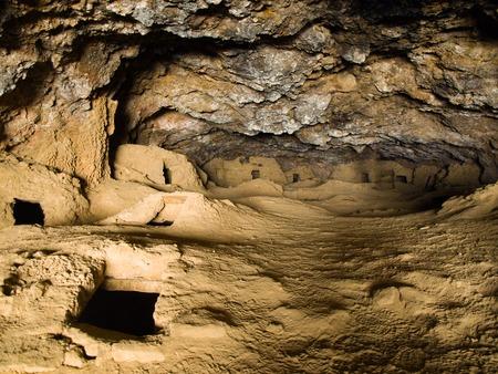 necropolis: Underground necropolis in Galaxia cave near Salar de Uyuni, Bolivia