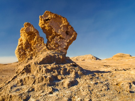 death valley: Bizarre rock formation in Moon Valley near San Perdo of Atacama, Chile.