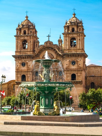 Church of the Society of Jesus - in spanish Iglesia La Compania de Jesus, Cusco, Peru Stock Photo