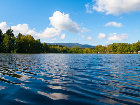 Babylon Pond and Cerchov Mountain in Bohemian Forest, Czech Republic