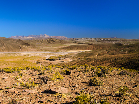 lipez: Mountainous landscape of Cordillera de Lipez in southern bolivian Altiplano Stock Photo
