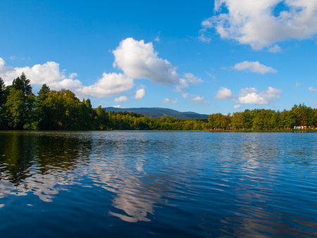 babylon: Babylon Pond and Cerchov Mountain in Bohemian Forest, Czech Republic