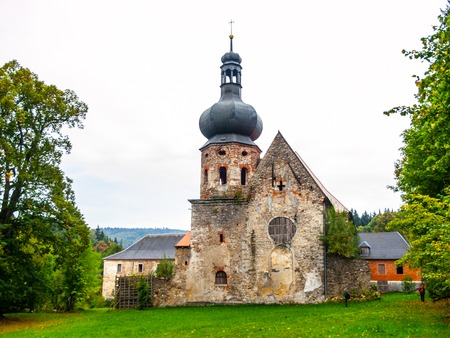 the former: Ruins of Former Augustinian Monastery in Pivon, Czech Republic Stock Photo
