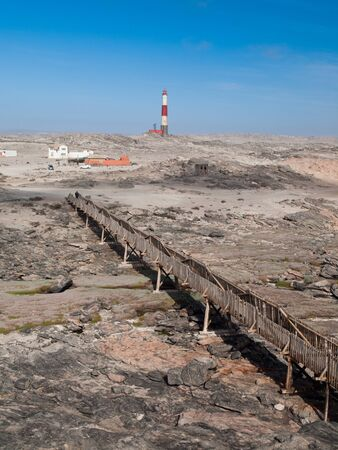 luderitz: Diaz point lighthouse near Luderitz in Namibia