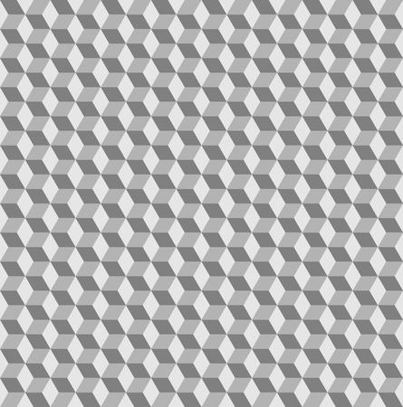 greyscale: Abstract seamless background with cube decoration in greyscale