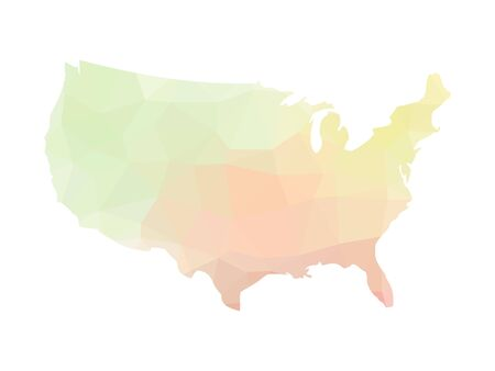 Low poly map of USA. Vector illustration made of multicolored triangles. Illustration