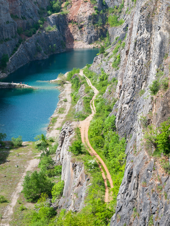 Old limestone quarry Big Amerika in Central Bohemia, Czech Republic