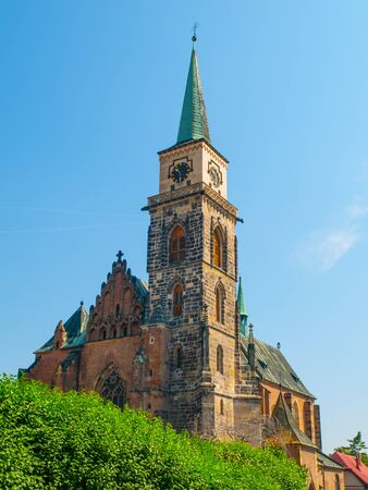 giles: The Gothic Church of St. Giles, Nymburk, Czech Republic Stock Photo