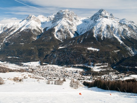 swiss alps: The village Scuol in Swiss Alps, Graubunden, Switzerland
