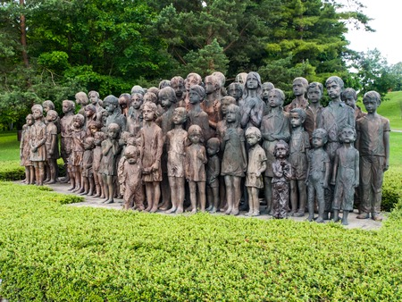 LIDICE, CZECH REPUBLIC - CIRCA JUNE 2013: The Childrens War Victims Monument in the place where was destroyed village of Lidice, circa in June 2013. Editorial