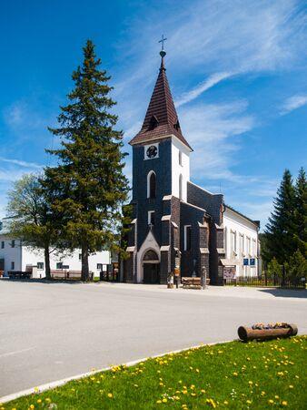 stephen: Mountain Church of Saint Stephen in Kvilda village, Sumava Mountains, Czech Republic