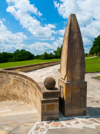 protector: World War Memorial in a place of former village Lidice completely destroyed by German forces in reprisal for the assassination of Reich Protector Reinhard Heydrich