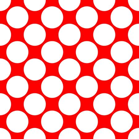 polka dot pattern: Seamless polka dot pattern. White dots on red background. Vector illustration.