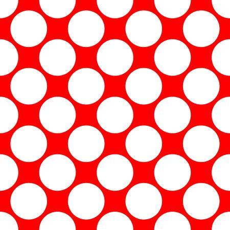 polka dot pattern: Seamless polka dot pattern. White dots on red background. Vector illustration.