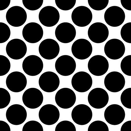Senza soluzione di continuità a pois modello. I punti neri su sfondo bianco. Illustrazione vettoriale.