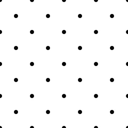 Seamless polka dot pattern. Black dots on white background. Vector illustration.