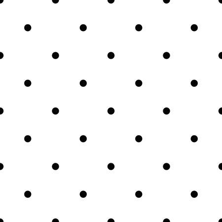 Seamless à pois. Des points noirs sur fond blanc. Vector illustration. Vecteurs