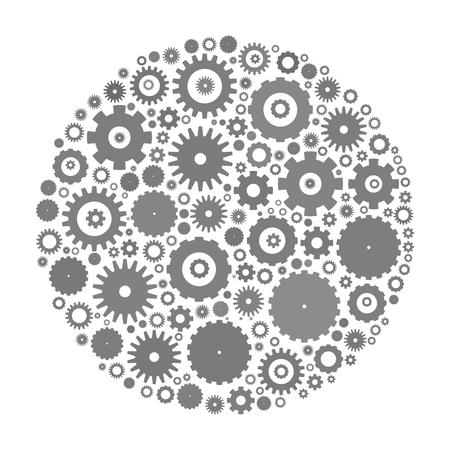 cog wheels: Cog wheels arranged in circle shape.
