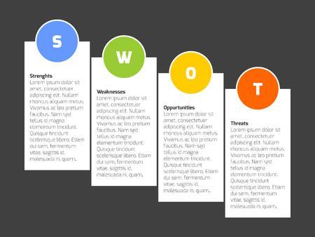 swot: SWOT Business Infographic Diagram Illustration