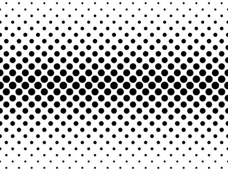 tone: Abstract halftone texture of black dots in cross arrangement on white background. Upper and lower horizontal gradient. Illustration