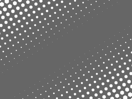 halftone: Abstract halftone texture of white dots in linear arrangement on grey background. Two side diagonal gradient.