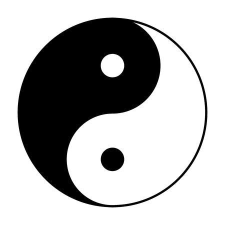 symbole de Yin Yang de phylosophie chinois décrit comment opposé et forces contraires peuvent être complémentaires, interconnectées et interdépendantes dans le monde naturel.
