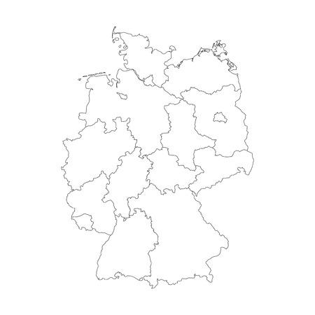 leere deutschland karte Karte Von Deutschland Geteilt Zu 13 Bundesländern Und Drei
