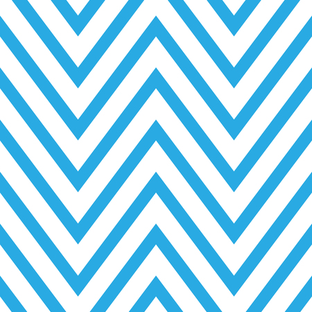Seamless chevron pattern in blue and white. Horizontal zigzag lines in acute angle. Retro navy style vector background.