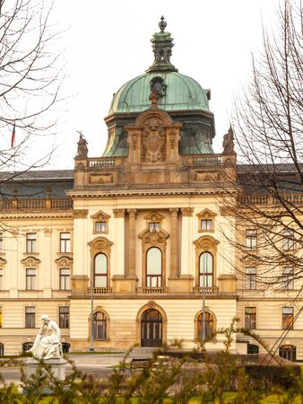 Historical building of Straka Academy, the seat of Governmen of Czech Republic in Prague